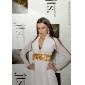 Robe du Soir en Mousseline de Soie, Coupe en Fourreau & Décolleté en V, Inspiration 'Leelee Sobieski'