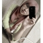 Cosplay Peruker Reborn! Bianchi Rosa Medium Animé Cosplay Peruker 65 CM Värmebeständigt Fiber Kvinna