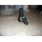 Chaussures de danse (Noir) - Non personnalisable - Talon plat - Cuir - Sneakers de dance/Salle de bal
