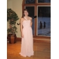 Formal Evening/Prom/Military Ball Dress - Pearl Pink Plus Sizes A-line/Princess One Shoulder/Sweetheart Floor-length Chiffon