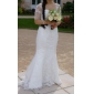 Lanting Bride Trumpet/Mermaid Petite / Plus Sizes Wedding Dress-Sweep/Brush Train Sweetheart Lace