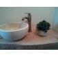 lavandino del bagno rubinetto antico ispirato il design-anticato finitura in ottone rubinetto singola maniglia