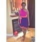 TS Contrast Color One Shoulder Swing Dress