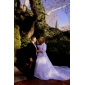 3/4-length manches en satin occasion spéciale veste de soirée / mariage wrap boléro shrug