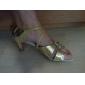Chaussures de danse (Or) - Non personnalisable - Talon aiguille - Similicuir/Paillette - Danse latine/Salle de bal