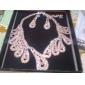 Gorgeous Rhinestones Wedding Bridal Necklace, Earrings Jewelry Set
