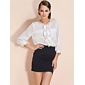 TS Chain Lined Bow Blouse Shirt (More Colors)