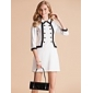TS Contrast Color Taping Three Quarter Sleeve Slim Fit Dress