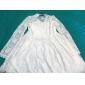 TS Vintage Lace V-neck Ruffle Dress