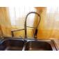 Contemporary High-Pressure Chrome Kitchen Faucet