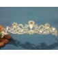 Ingenious Alloy With Rhinestone And Pearl Bridal Tiara