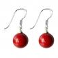 Lureme®10mm Red Precious Stone Earring