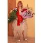 A-linje/Prinsesse Asymmetrisk Brudekjole - Elfenben Sweetheart Organza Plus Størrelser