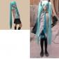 Inspirado por Vocaloid Hatsune Miku Vídeo Juego Disfraces Cosplay Trajes Cosplay / Vestidos Retazos Negro / Azul / Morado Sin MangasBlusa