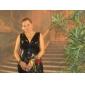 Vestido de Noche con Cuello en V y Corte Sirena Inspirado por Kellie Pickler