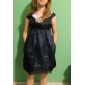 ts stereoscopica cape decorazione maniche organza dress