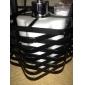 60w hänge i svart fläta lampskärm