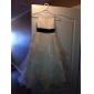 Rochie de bile lungime floare rochie fata rochie - satin fara buzunar gât cu lanț de lan ting bride