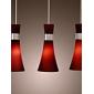 rostfritt stål 3-ljus hängande ljus effektivisera dedigned (lila)