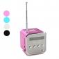 Minikubhögtalare med FM-radio, Micro D-kortläare och UB (blandade färger)