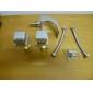 Sprinkle® Badrumskranar LED / Vattenfall / Utbredd with Krom Två handtag Tre hål