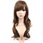Capless extra lång ljusbrunt lockigt hår peruk