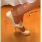 pompes de satin talon aiguille avec le cristal / volants chaussures femmes noce populaire