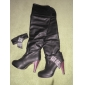 Leatherette Spool Heel Platform Knee High Boots Party / Evening Shoes With Sequin (More Colors)