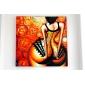 HANDMÅLAD MänniskorModerna En panel Kanvas Hang målad oljemålning For Hem-dekoration