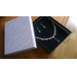 alta qualidade strass tcheco com a liga definir banhado casamento jóias, incluindo brincos e colar