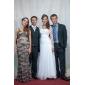 Lanting noiva bainha / coluna petite / mais tamanhos / retângulo de casamento vestido-sweep / trem escova