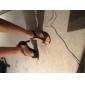 Chaussures de danse(Noir) -Non Personnalisables-Talon Aiguille-Satin-Latine Salon Salsa