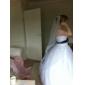 one-tier tule kapel bruiloft sluier met gesneden rand (meer kleuren beschikbaar)
