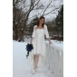 Lanting Bride A-line / Princess Petite / Plus Sizes Wedding Dress-Asymmetrical Sweetheart Lace