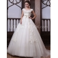 Trumpet/Mermaid Plus Sizes Wedding Dress - Ivory Chapel Train Off-the-shoulder Organza