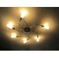 artísticos de metal luzes de montagem embutida local com 6 luzes