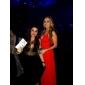 TS Couture Formeller Abend Militär Ball Kleid - Offener Rücken Promi-Stil Eng anliegend V-Ausschnitt Riemchen Boden-Länge Chiffon mit