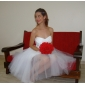 Lanting Bride Ball Gown Petite / Plus Sizes Wedding Dress-Knee-length Sweetheart Taffeta / Tulle