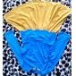 TS VINTAGE Contrast Color Wave Waist Pleats Dress