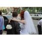 구슬 결혼식 베일은 2 층 손가락 베일