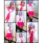 Inspiré par Bonne étoile Kagami Hiiragi Anime Costumes de cosplay Costumes Cosplay / Uniforme d'Ecolier / Ecolière Mosaïque Blanc / Rose