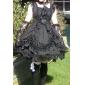 One-piece/Klänning Gotisk Lolita Lolita Cosplay Lolita-klänning Svart Enfärgat Ärmlös Medium längd Klänning För Dam Bomull