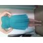 Tea-length Chiffon Bridesmaid Dress - Royal Blue Plus Sizes A-line/Princess Strapless/Sweetheart