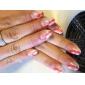 5pcs Pinceaux Nail Art avec poignée noire