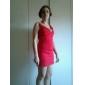TS V-neck Sleeveless Ruffle Bodycon Dress (More Colors)