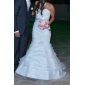 Trumpet/Mermaid Plus Sizes Wedding Dress - Ivory Court Train Sweetheart Satin/Organza