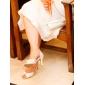 satin övre peep toe med rhinestone bröllop skor fler färger