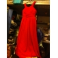 Bridesmaid Dress Floor Length Chiffon Sheath Column Scoop Dress