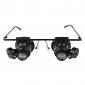 glasögon typ 20x förstoringsglas med vitt LED-ljus
