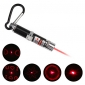 Portachiavi con laser LED rosso 4 in 1 - Argento